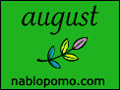 NaBloPoMo August logo
