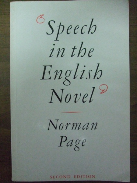 Cover of Speech in the English Novel